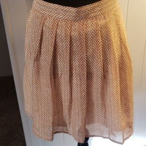 Old Navy Skirt Gold, pleated, never worn